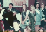 Rep. Tim Josi with Oregon Dairy Princess Ambassadors in ceremonial office _1997