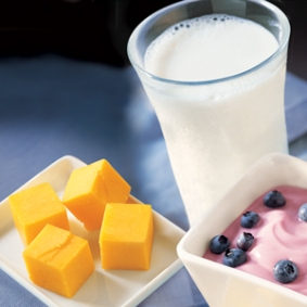 Milk cheese yogurt