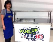 Ontario Culinary Workshop, Pam and yogurt station
