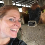 Mary Swearingen and cow