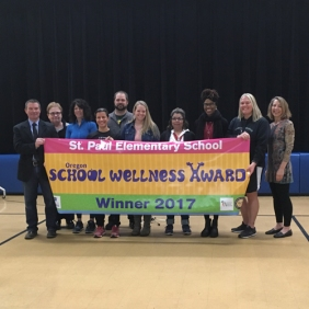 St. Paul Elementary School was recognized for an updated wellness policy, great nutrition and physical activity. The school works with national wellness programs and enjoys strong support from the superintendent and local community.