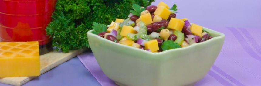 Bean and Smoked Cheddar Salad